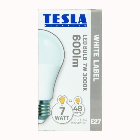 Tesla Λάμπα LED E27 White Label 7W 600 lm Θερμό φως