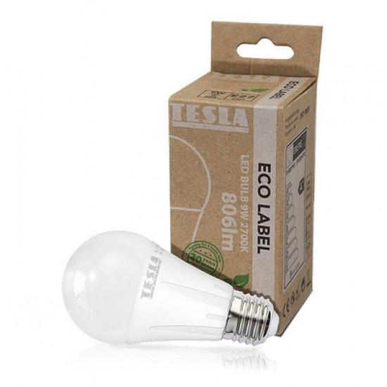 Tesla Λάμπα LED E27 ECO LABEL 9W 806 lm Θερμό φως