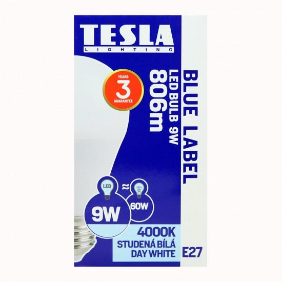 Tesla Λάμπα LED E27 BLUE LABEL 9W 806 lm Φυσικό φως ημέρας