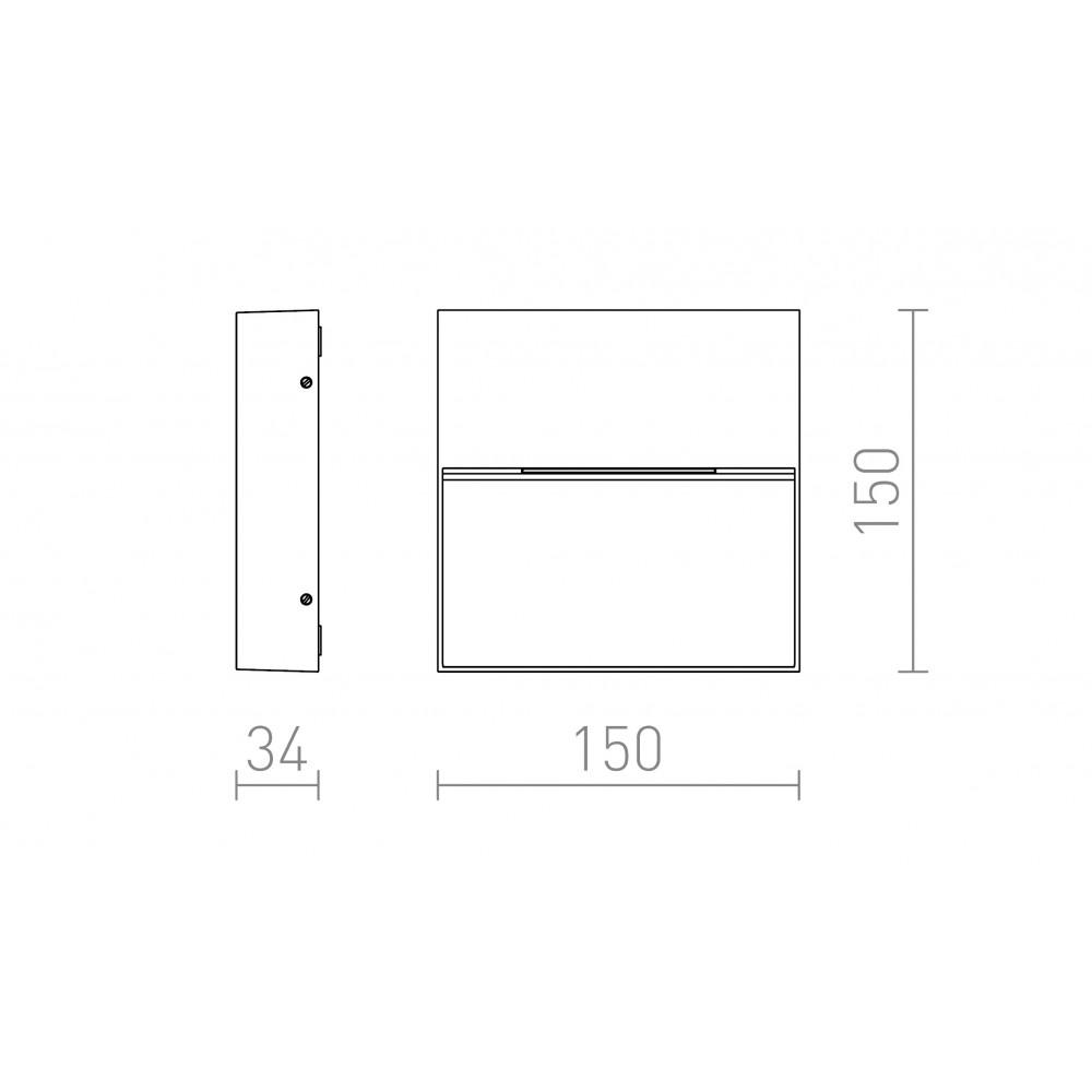 Επιτοίχιο φωτιστικό προσανατολισμού σε μονοπάτια, σκάλες και αυλές, IP54.