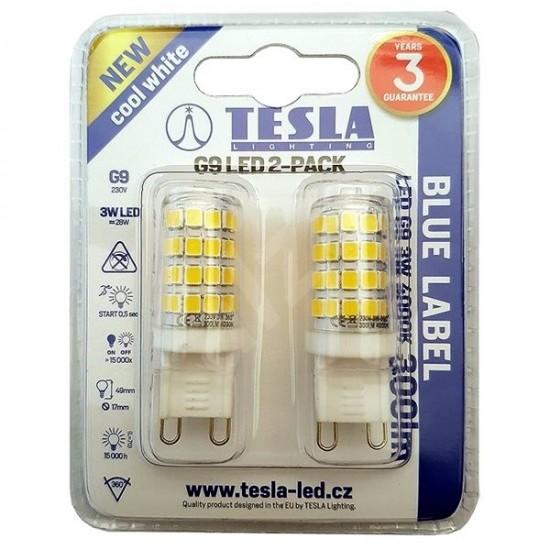 Tesla Λάμπα LED G9 BLUE LABEL  3W 300 lm Φυσικό φως ημέρας