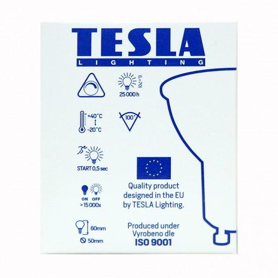 Tesla LED GU10 SPOT DIMMABLE, BLUE LABEL 5W 410 lm Θερμό φως