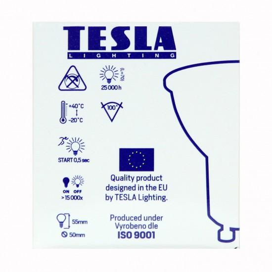 Tesla LED GU10 SPOT, BLUE LABEL  7W 560 lm Φυσικό φως ημέρας