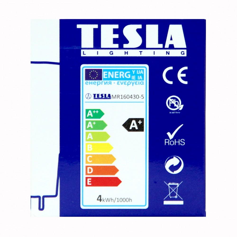 Tesla LED MR16 SPOT, 4W 320 lm Θερμό φως