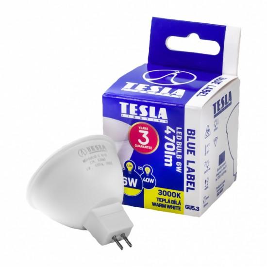 Tesla Λάμπα LED MR16 SPOT, 6W 470 lm Θερμό Λευκό