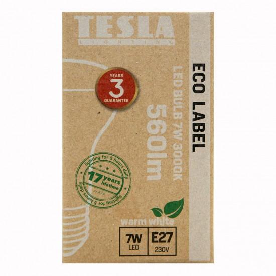 Tesla Λάμπα LED E27 Καθρέπτου 7W 560Lm Θερμό Λευκό